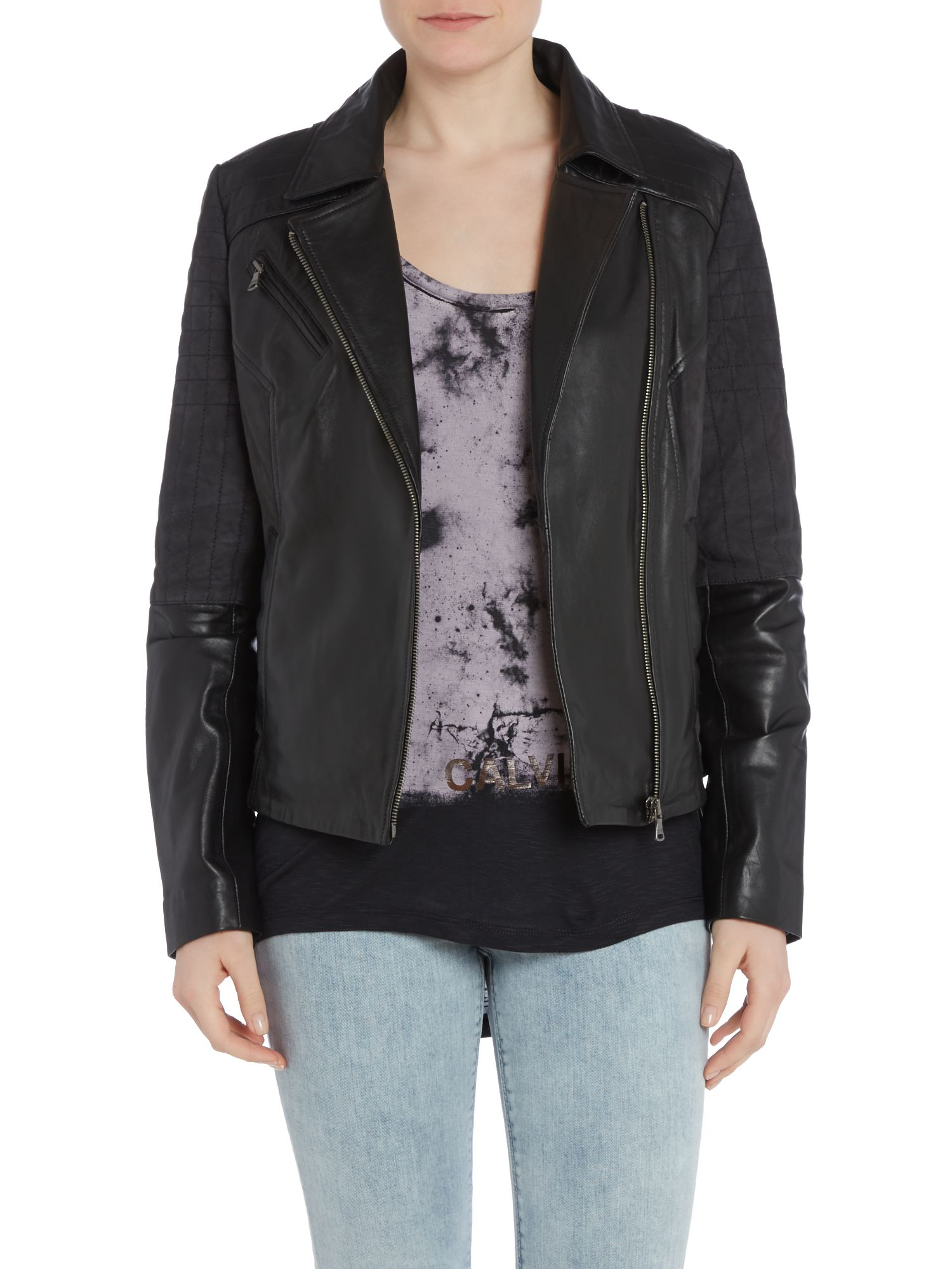 Lucille leather biker jacket