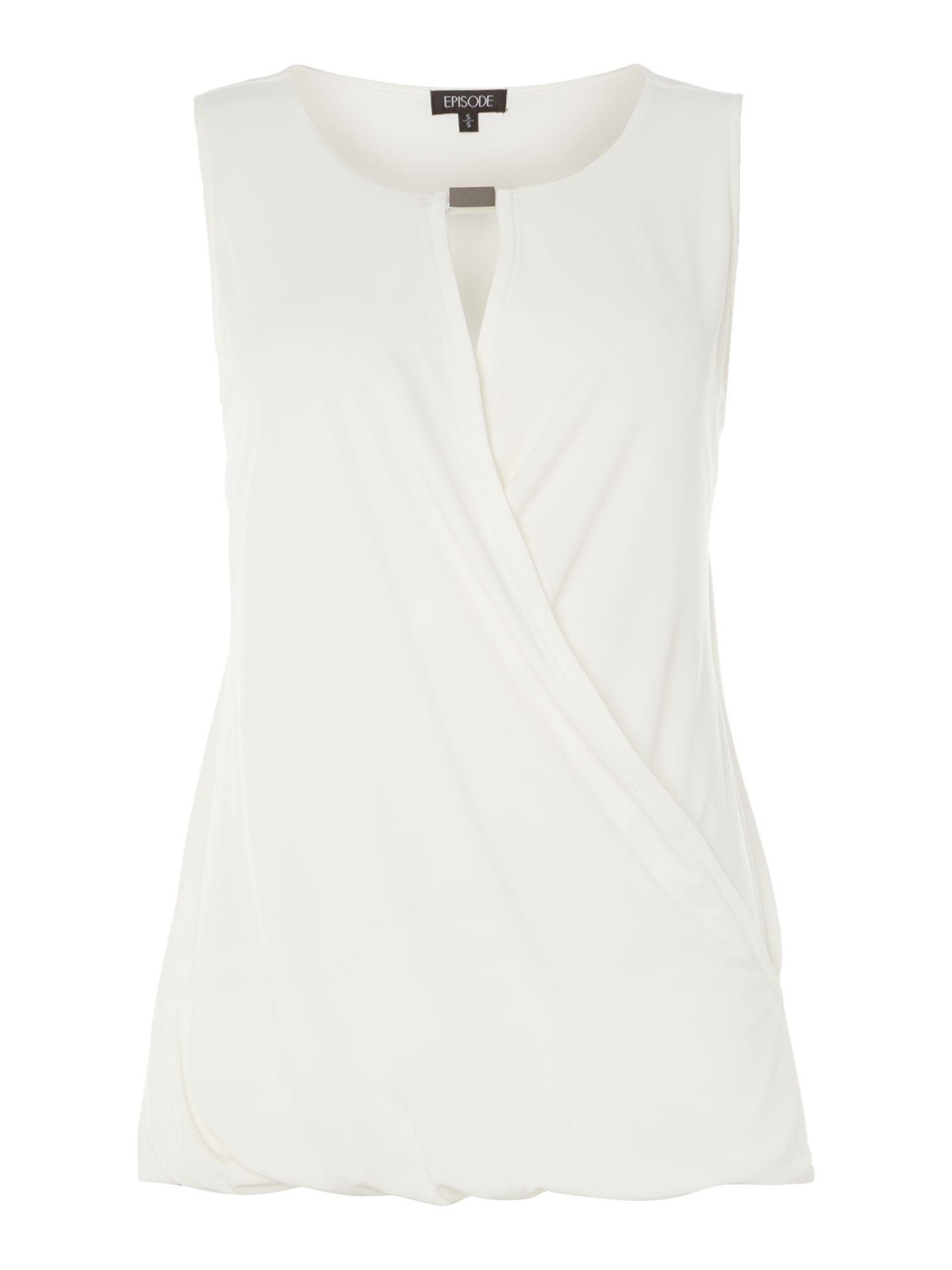 Sleeveless twist detail jersey top