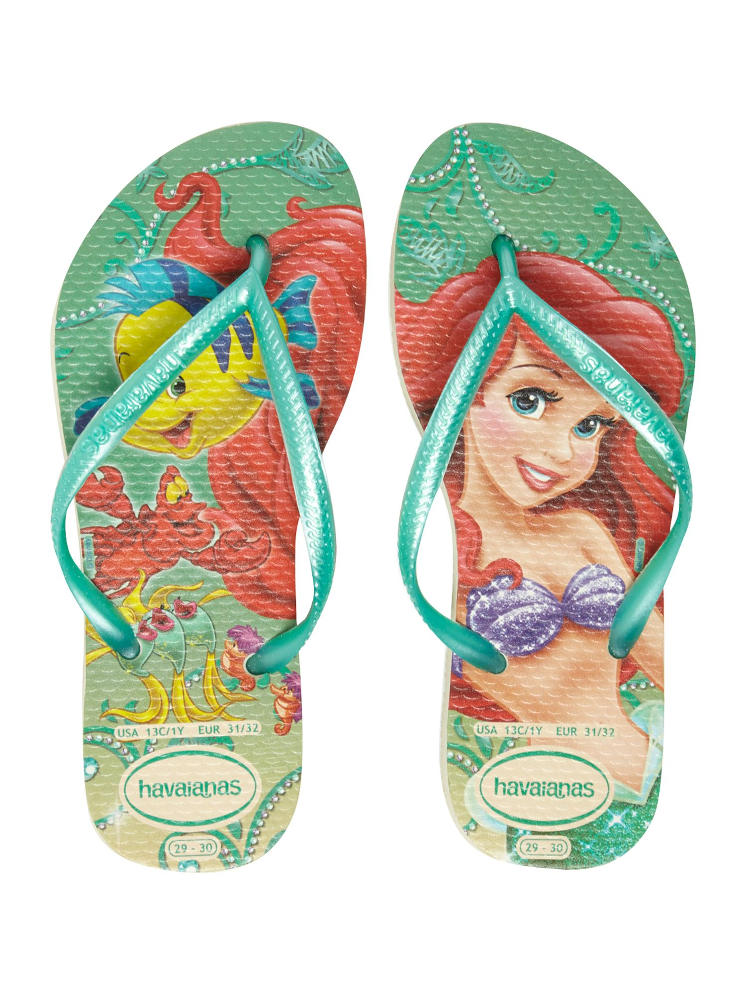 Girls Little Mermaid flip flop