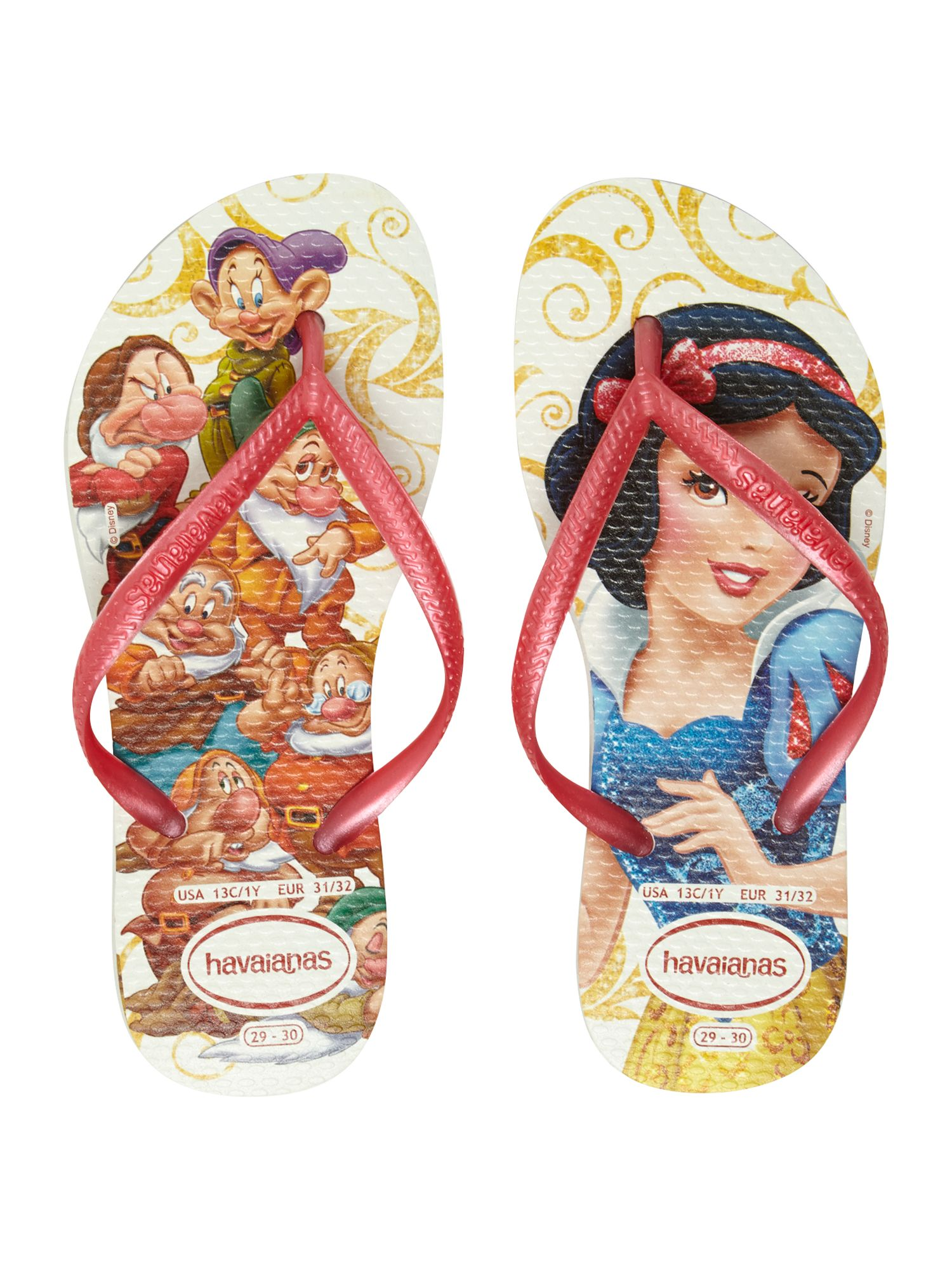 Girls Snow White flip flop