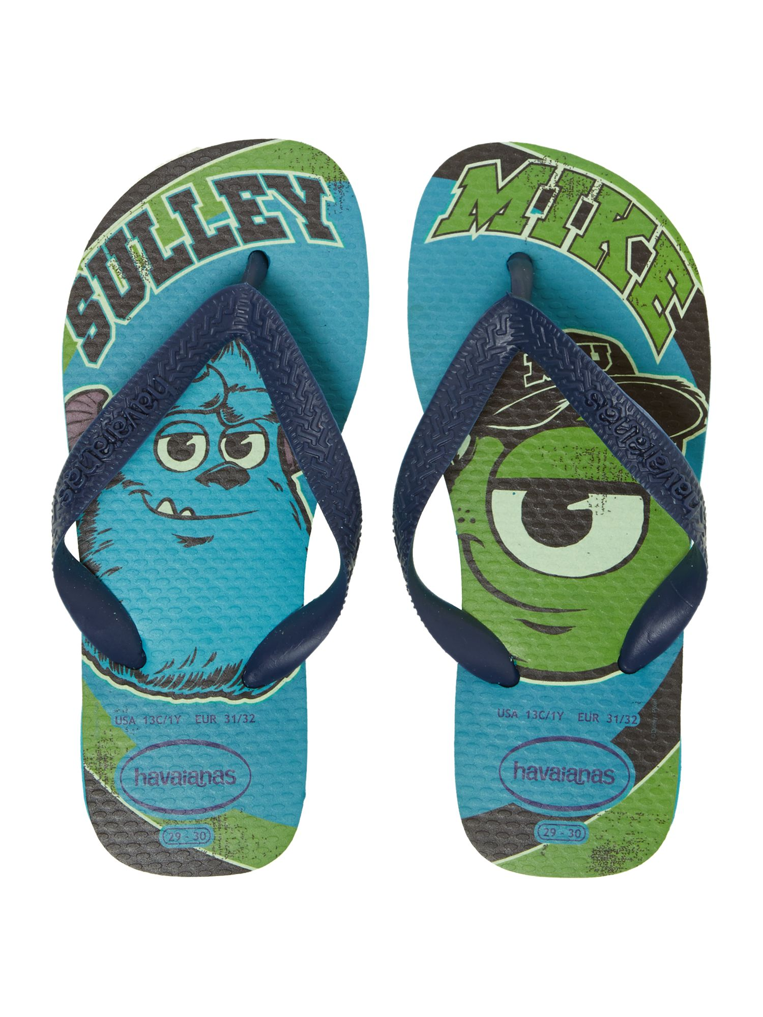 Boys Monsters Inc flip flop