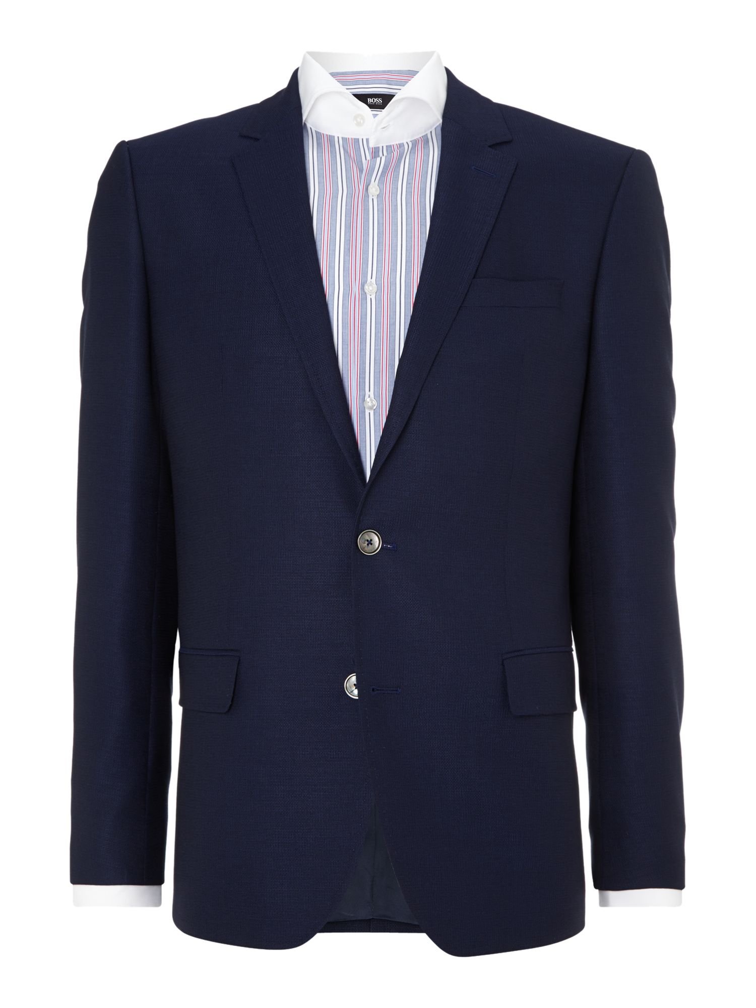 Hutsons slim fit wool textured jacket