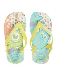 Baby boys Monsters Inc flip flop