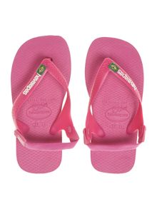 Baby girls Brazil flag flip flop