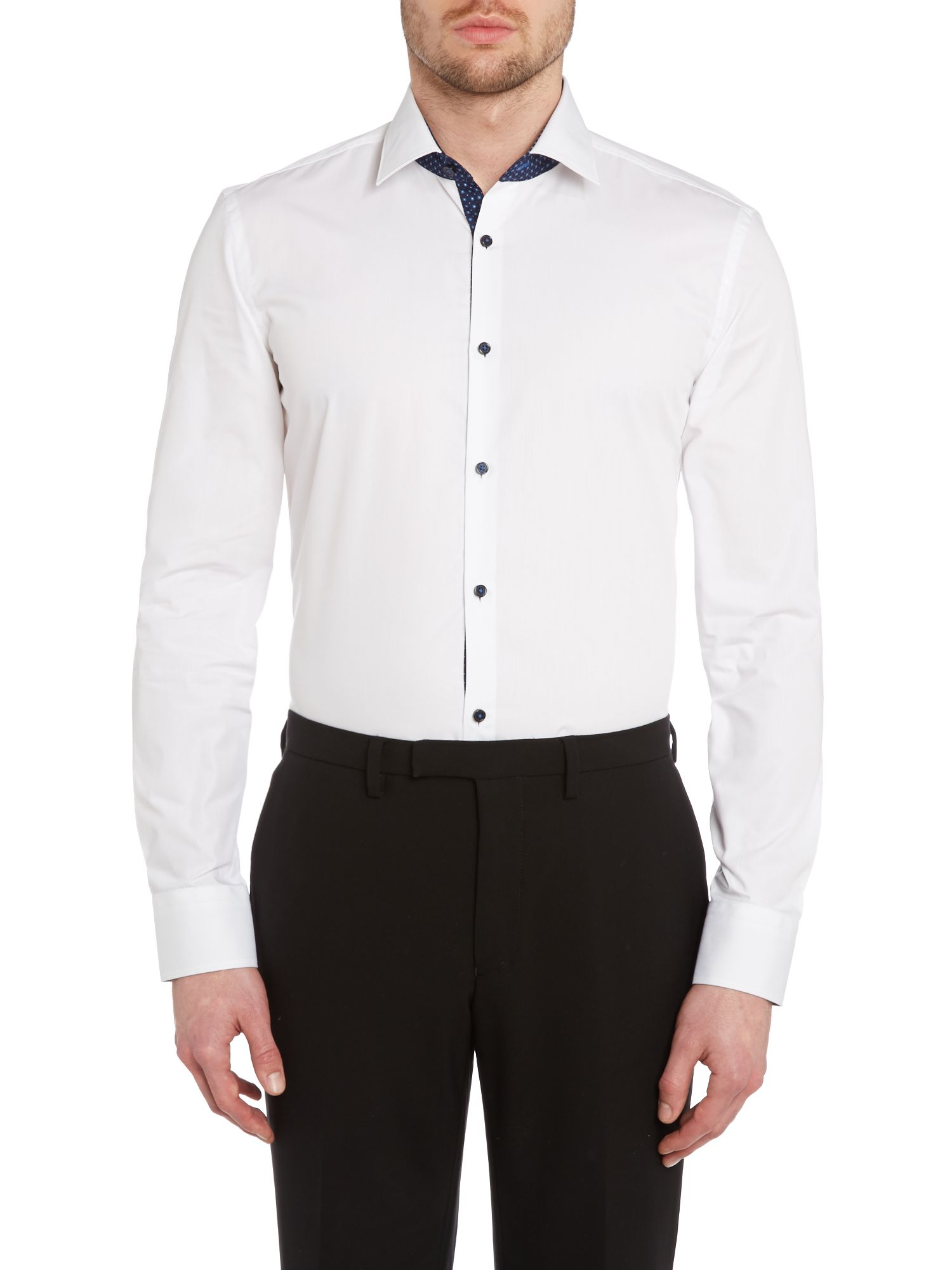 Juri slim fit internal geo contrast trim