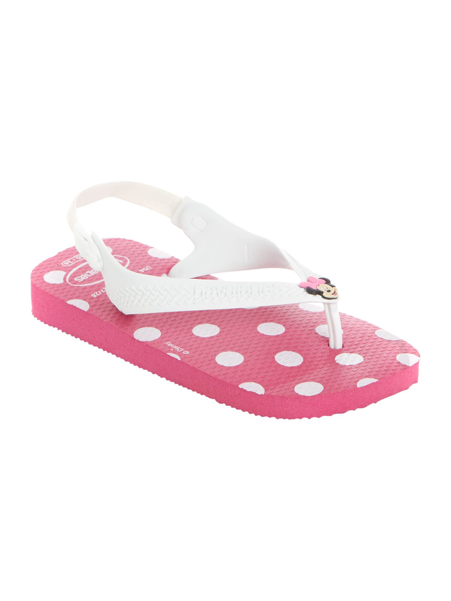 Baby girls Minnie Mouse flip flop