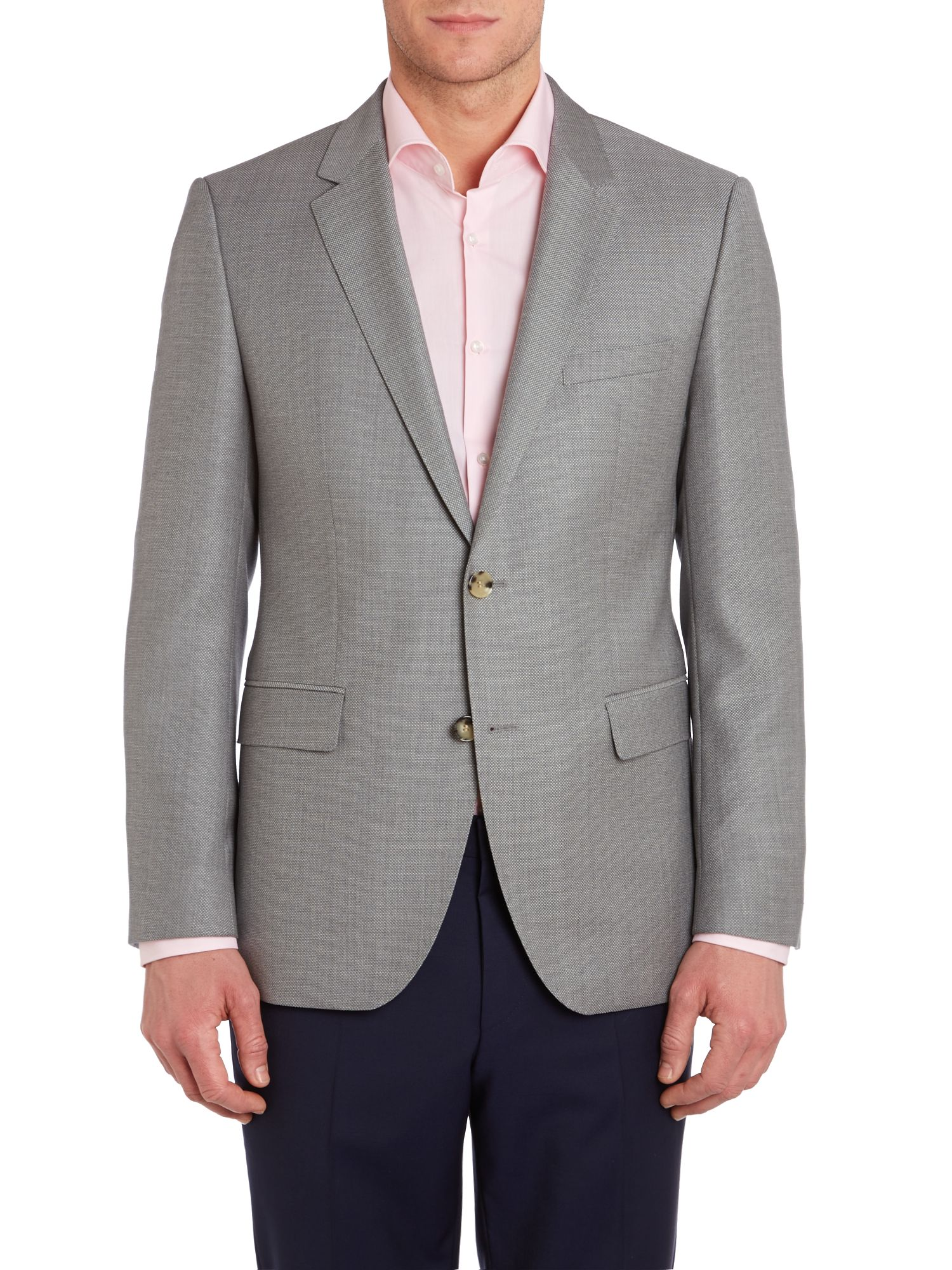 James slim fit pindot wool textured jacket