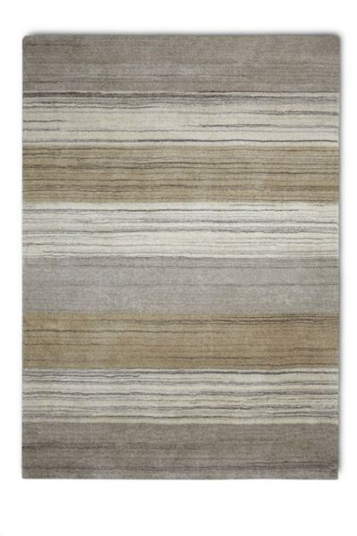 Plantation Rug Co. Simply Natural 100% Wool Rug - 120x180 Stripe