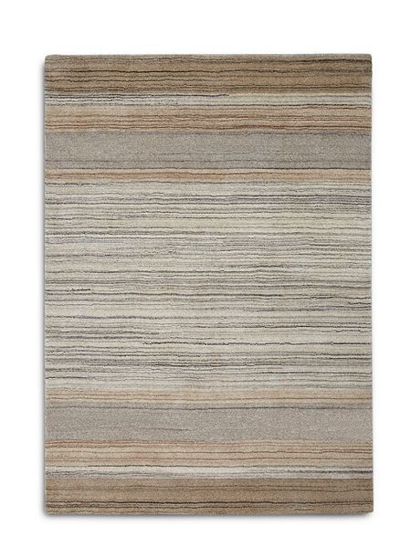Plantation Rug Co. Simply Natural 100% Wool Rug - 70x240 Stripe