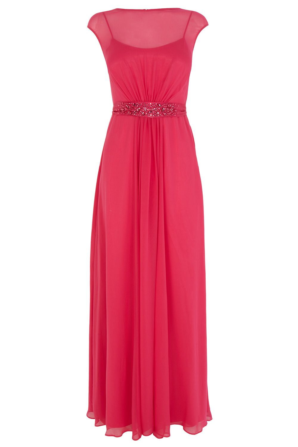 Lori Lee Embellished Waist Petite Maxi Dress