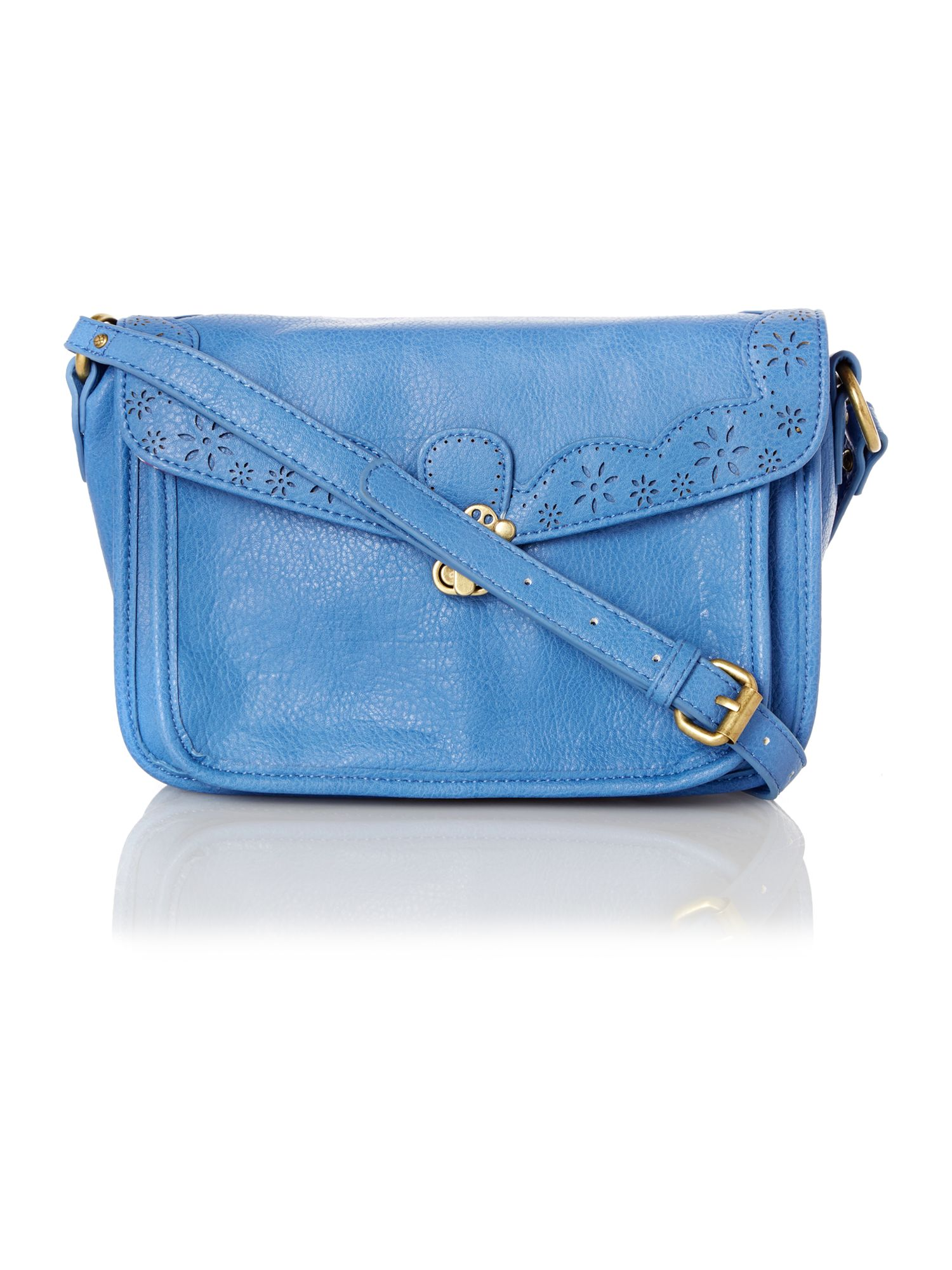 Alicia blue medium satchel bag