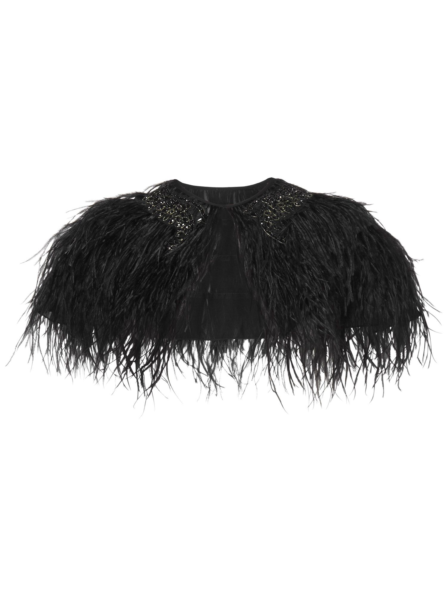 Feathered cape