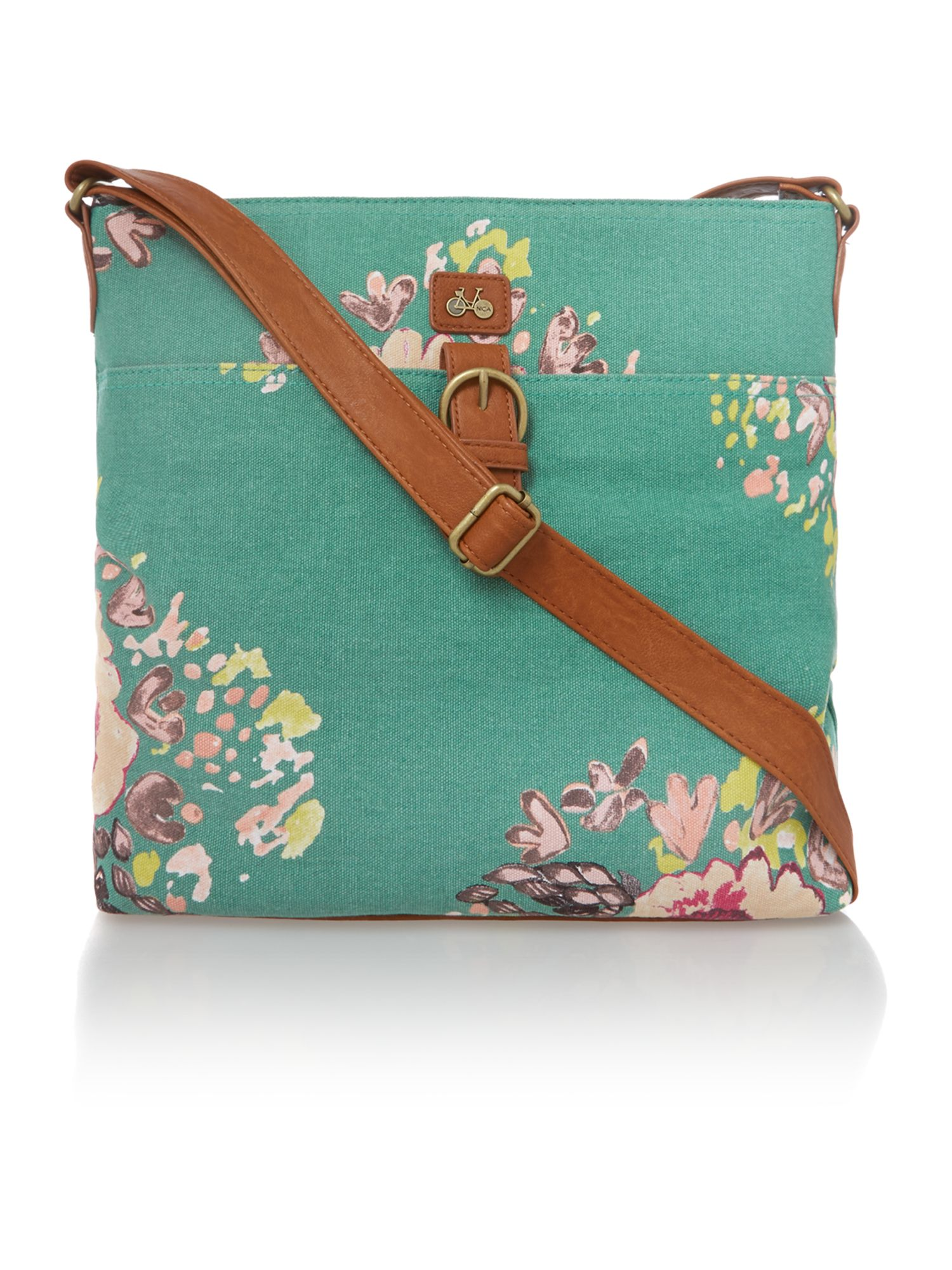 Cara green cross body bag