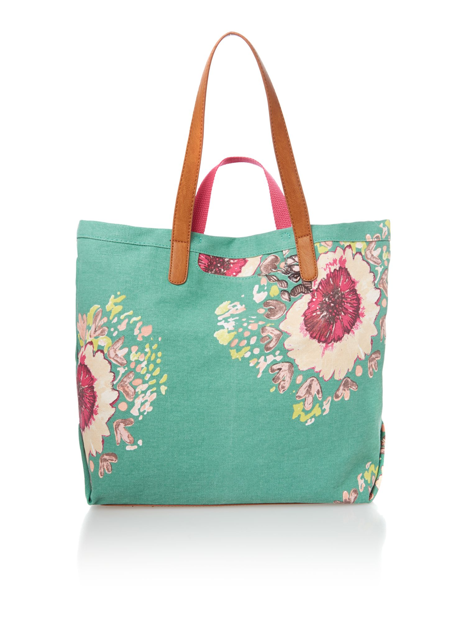 Cara green tote bag