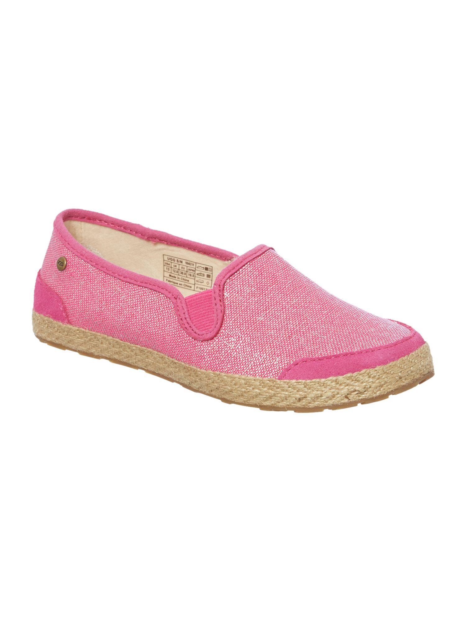 Girls metallic plimsole