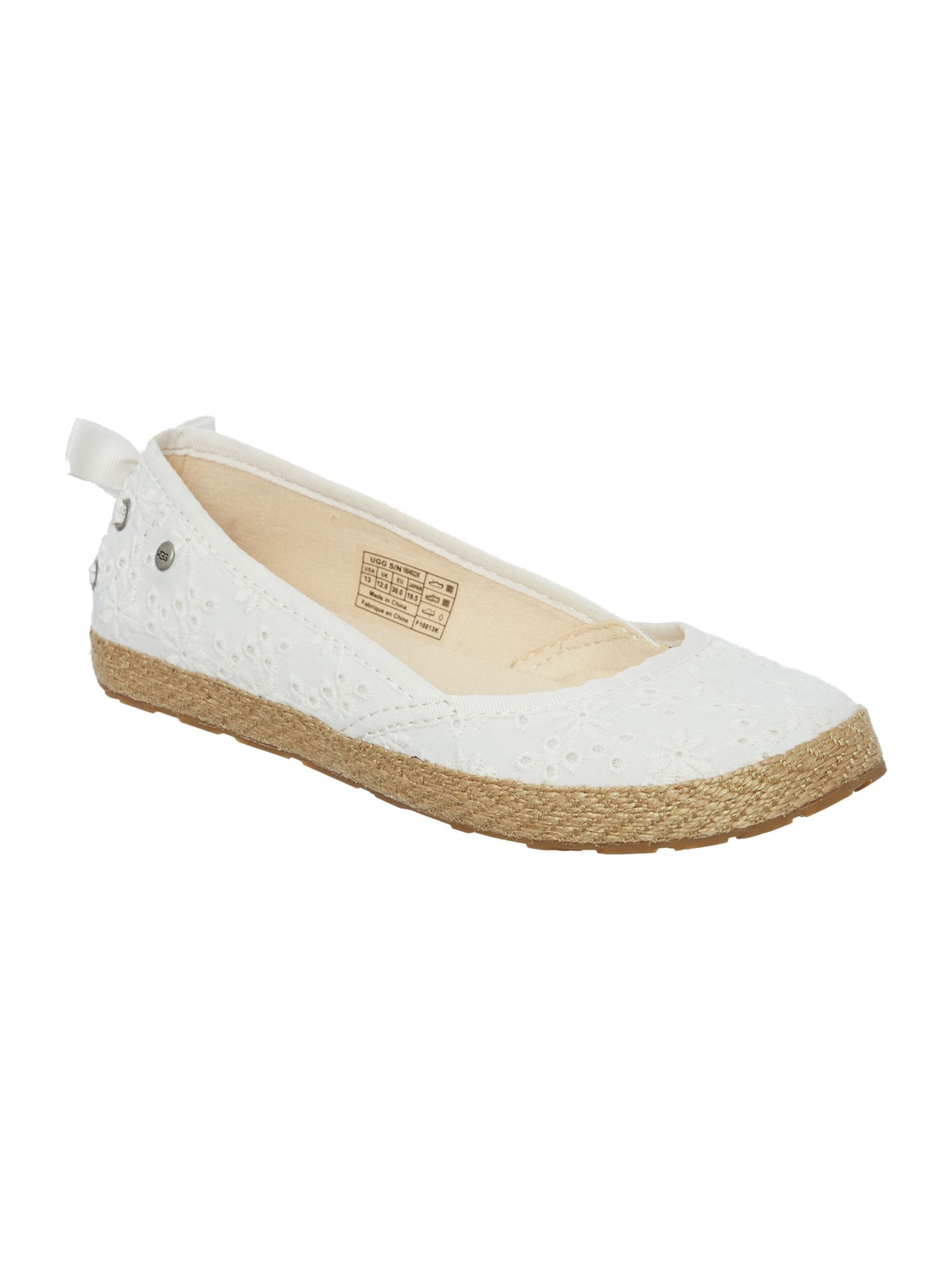 Girls embroidered espadrilles