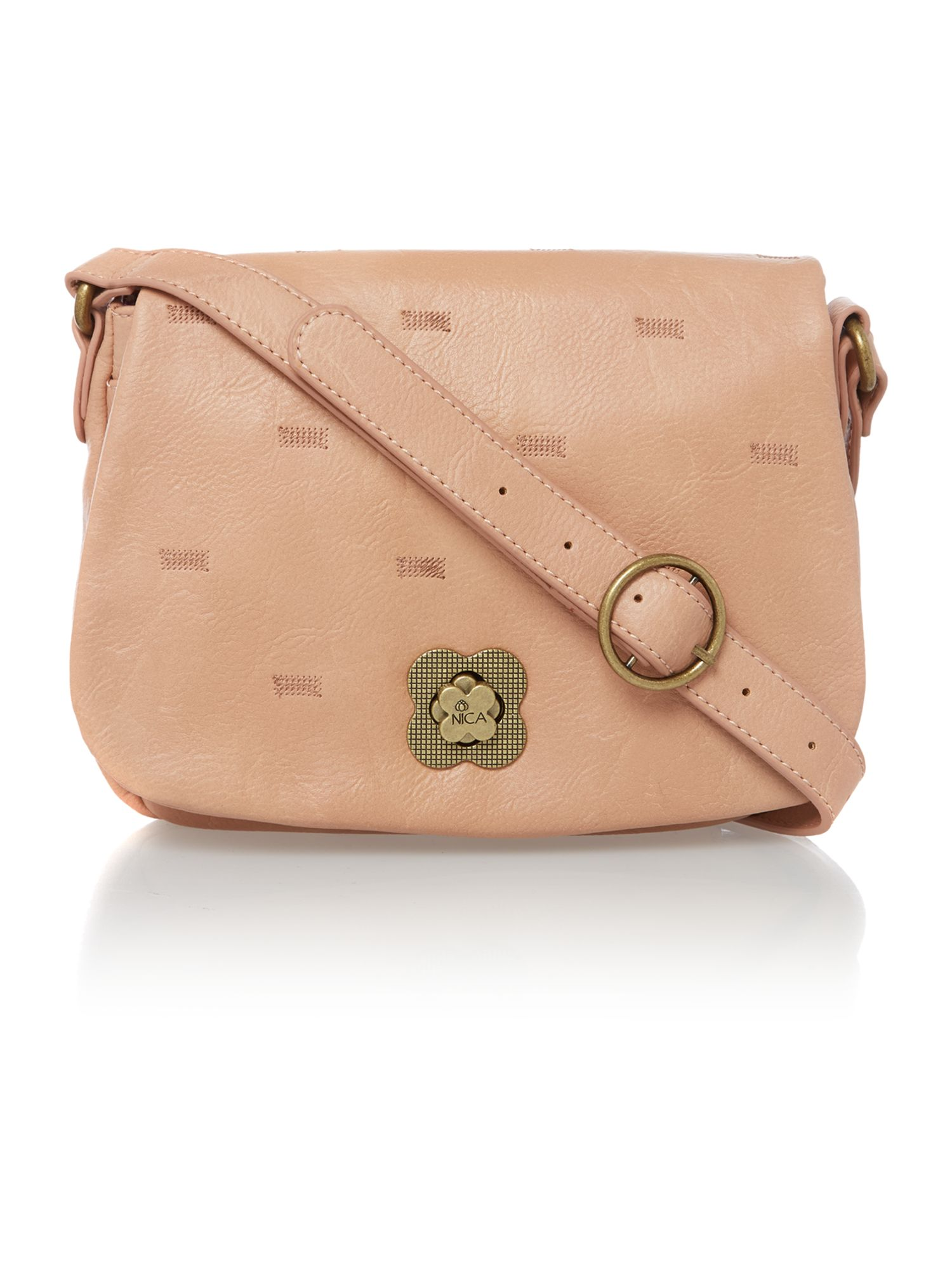 Lulu pink cross body bag