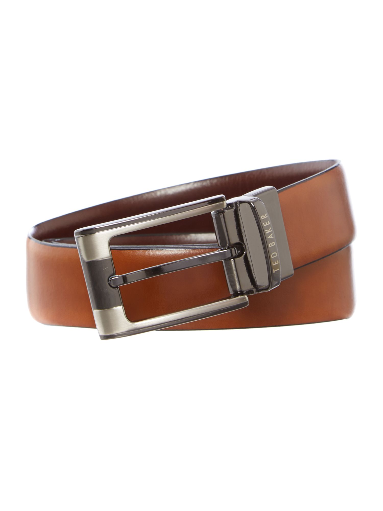 Smart leather reversible belt