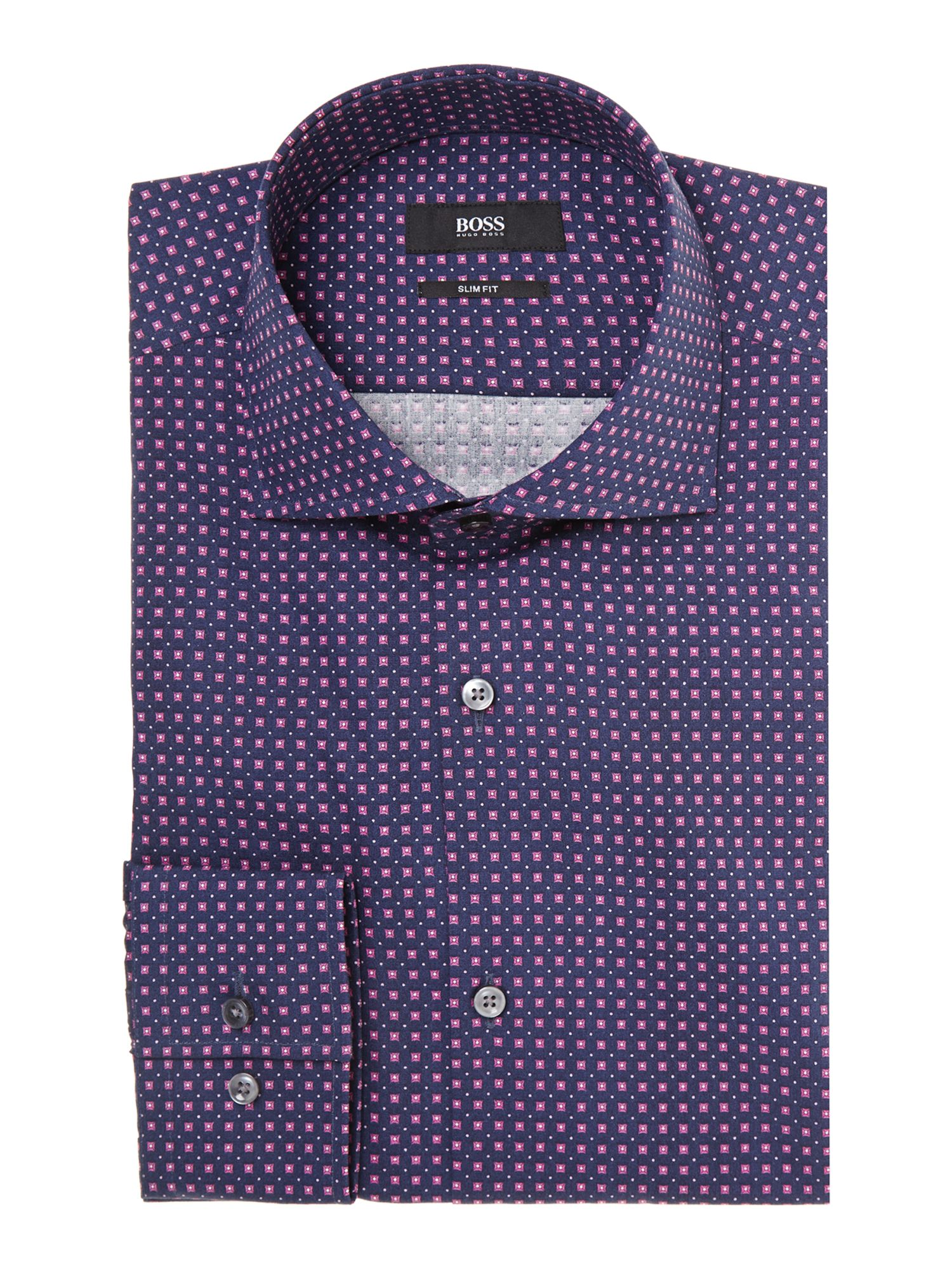 Jaron slim fit all over geometric shirt