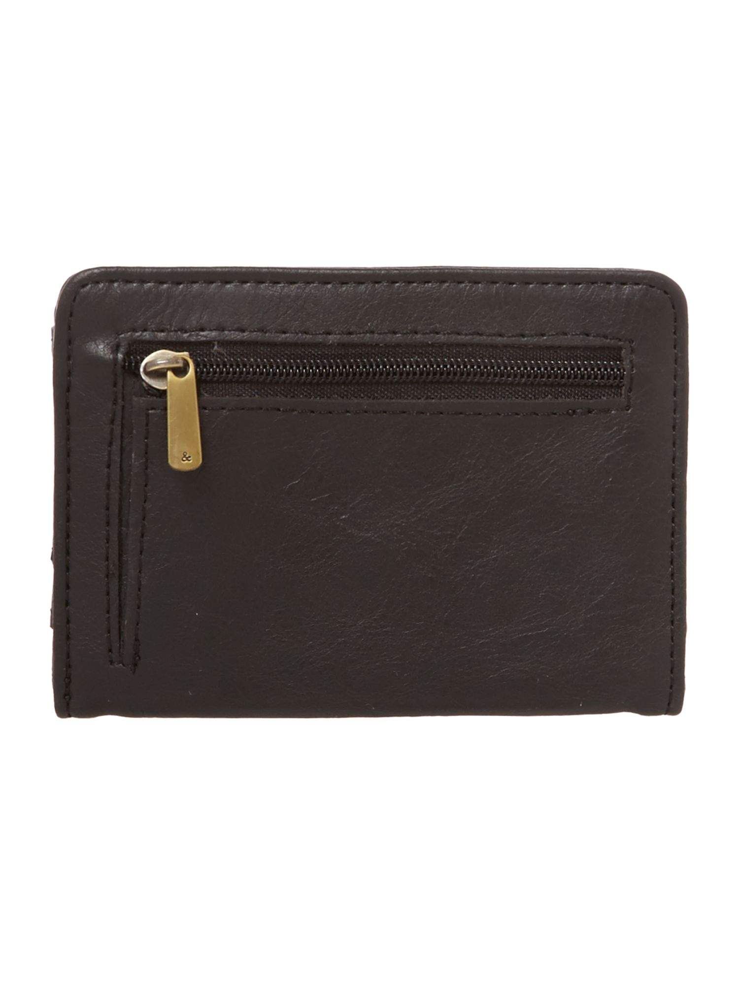 Georgina black small flap over purse