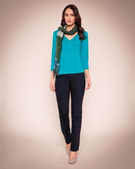 East Pleat front jersey top