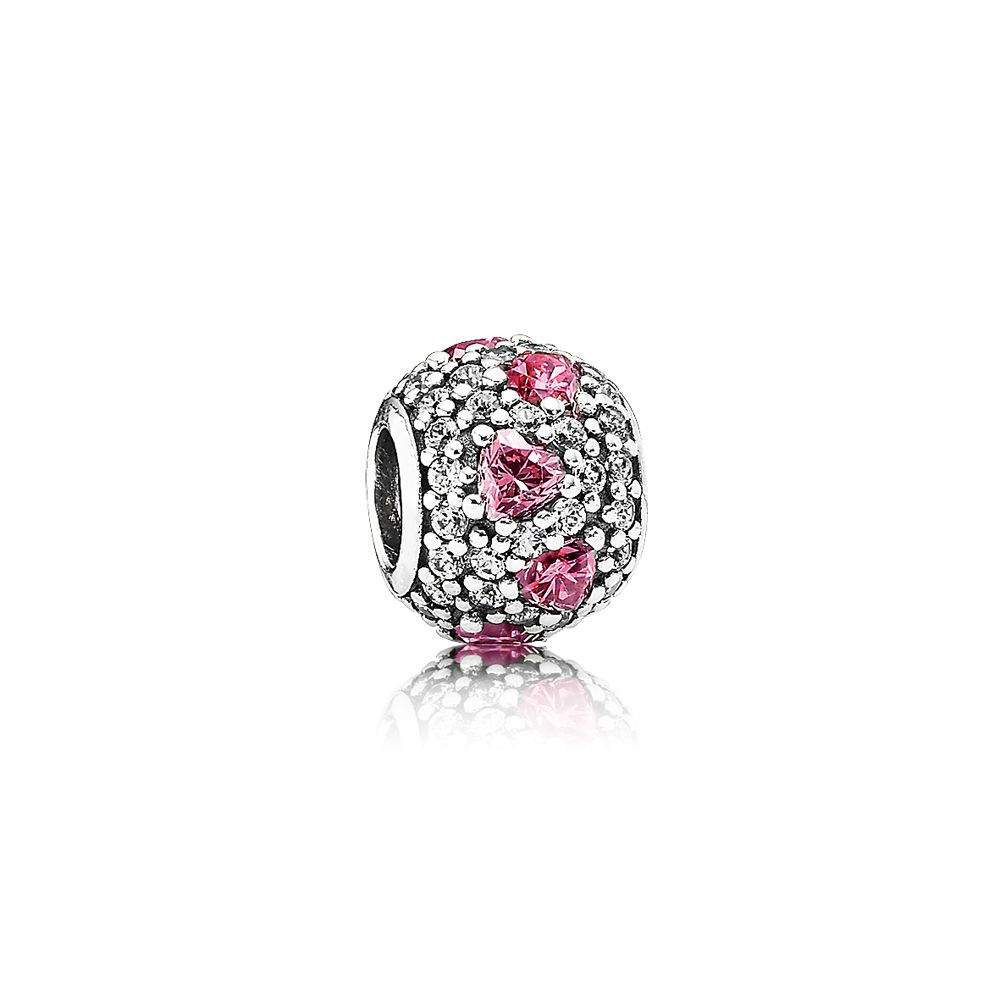 Heart Pave Ball Charm