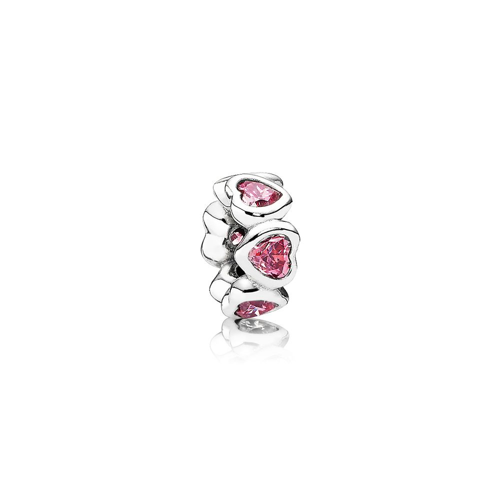 Pink Sparkling Heart Spacer
