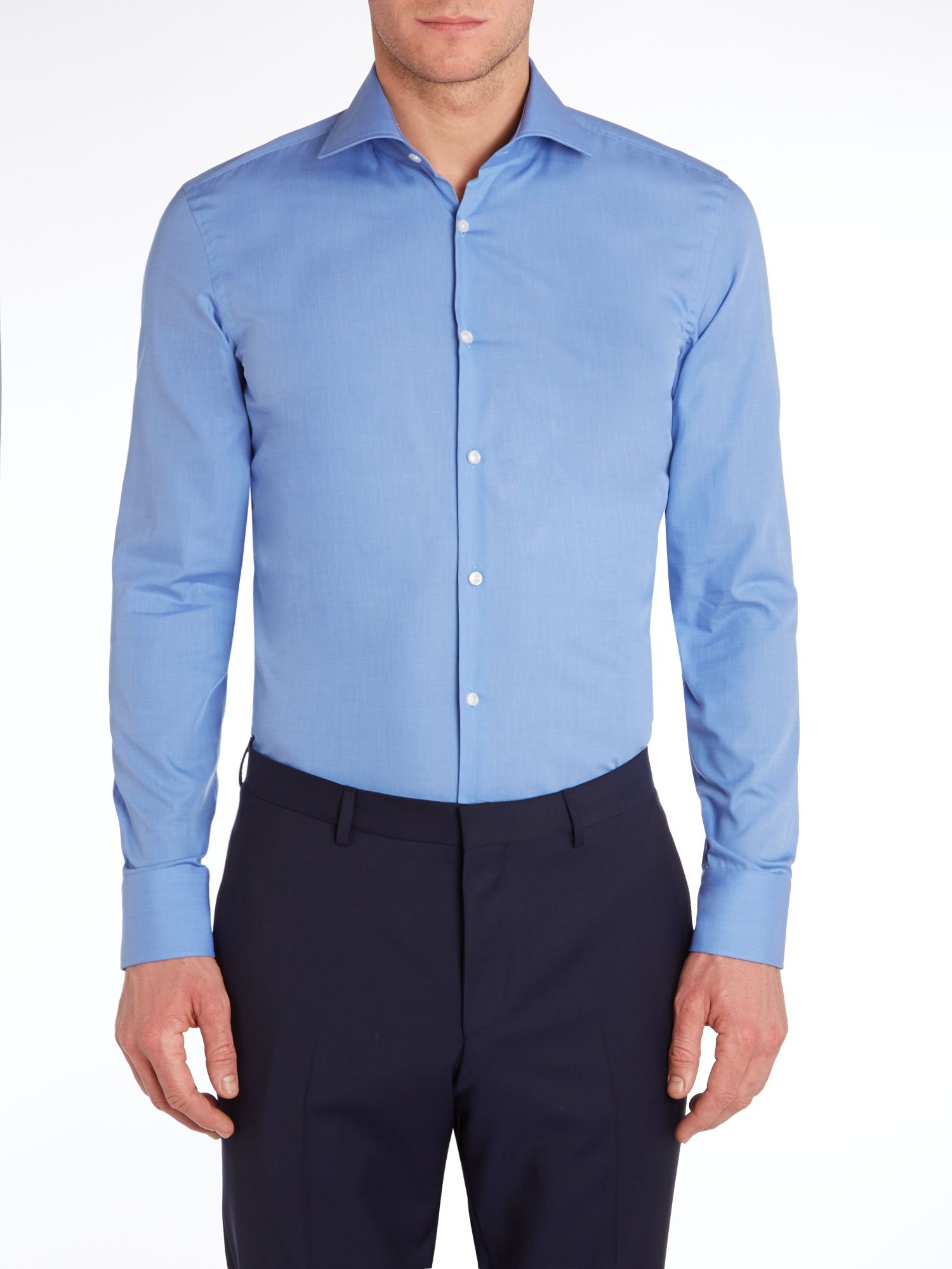 Jaron slim textured solid shirt