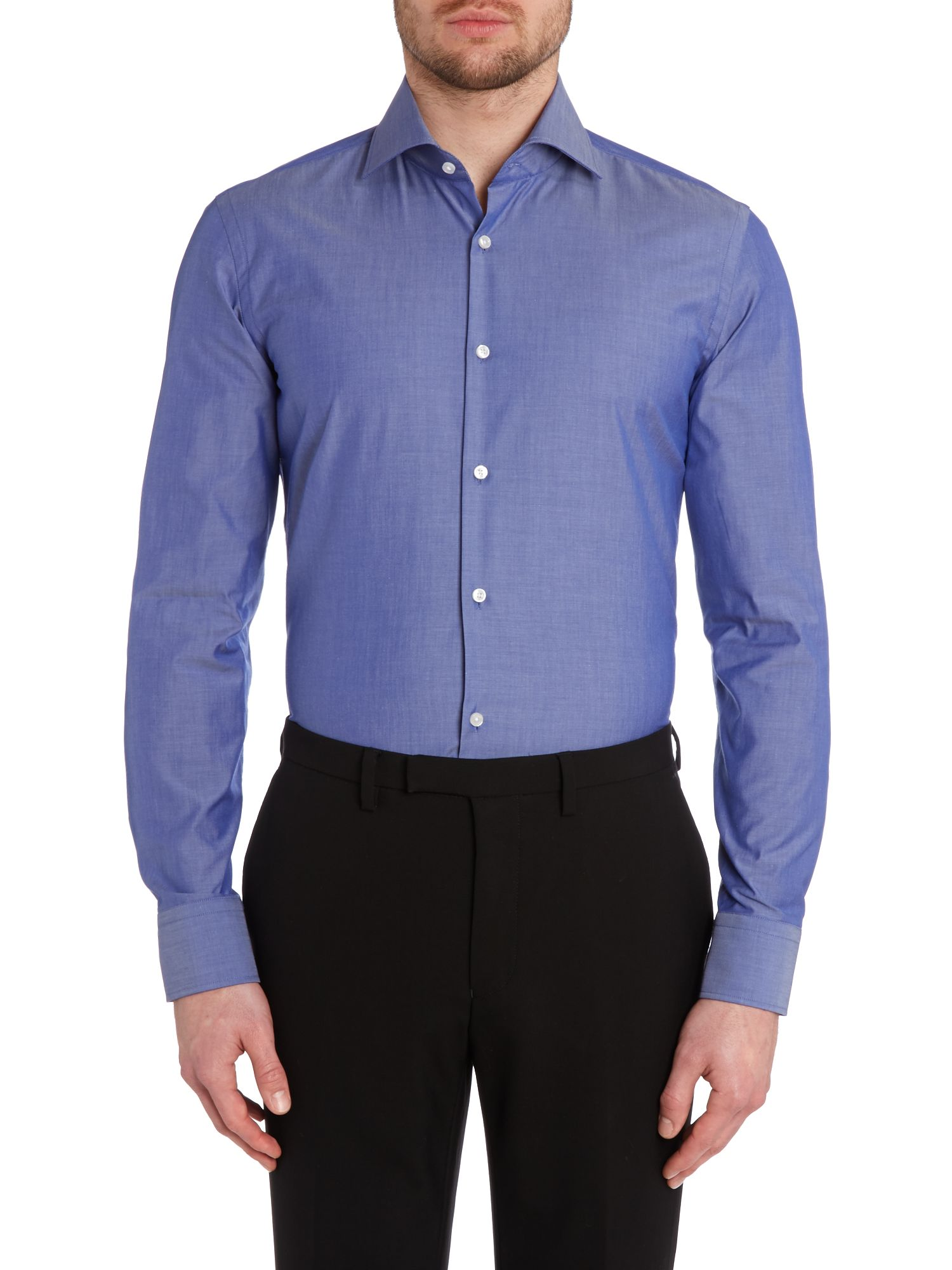 Jaron slim fit luxury solid shirt