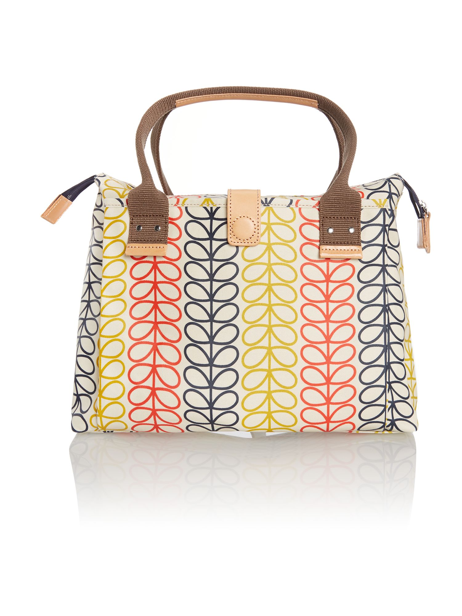 Stem print multi coloured cross body bag