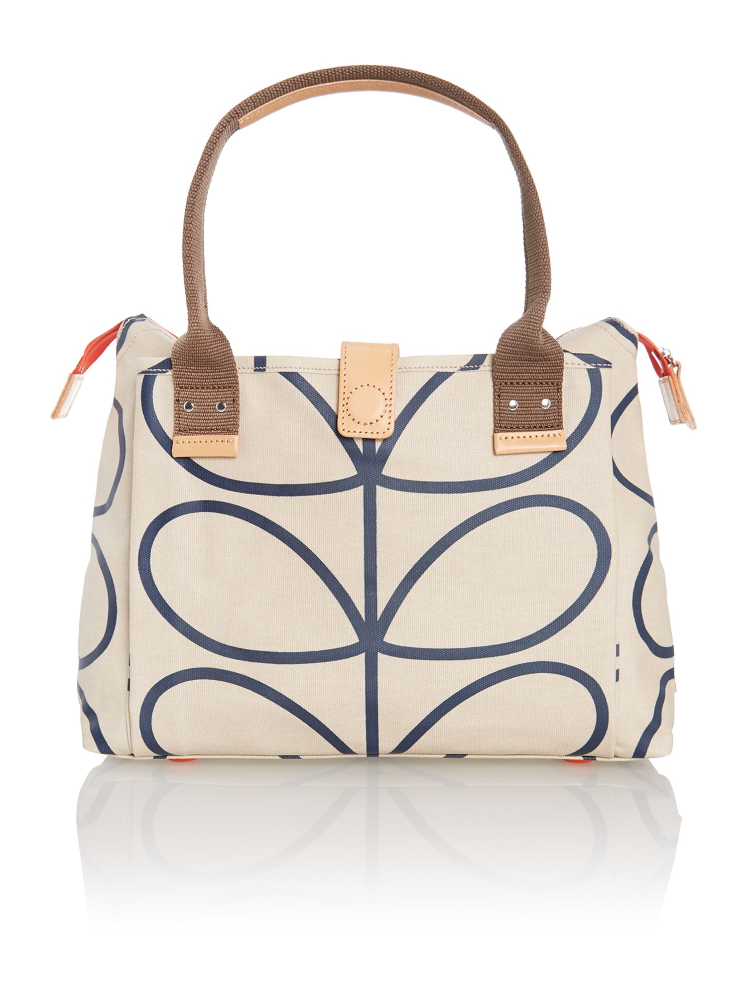 Stem print neutral cross body bag