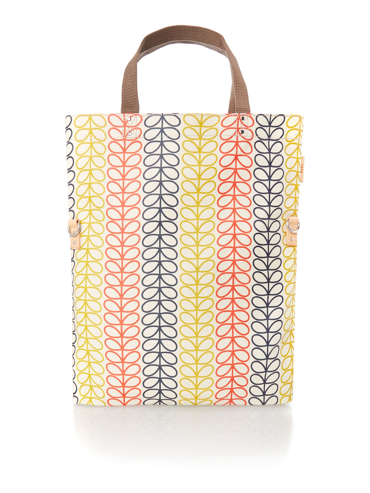 Stem print multi coloured tote bag