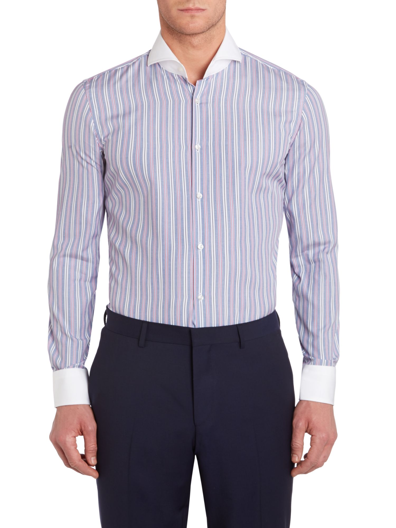 Johan slim fit stripe shirt