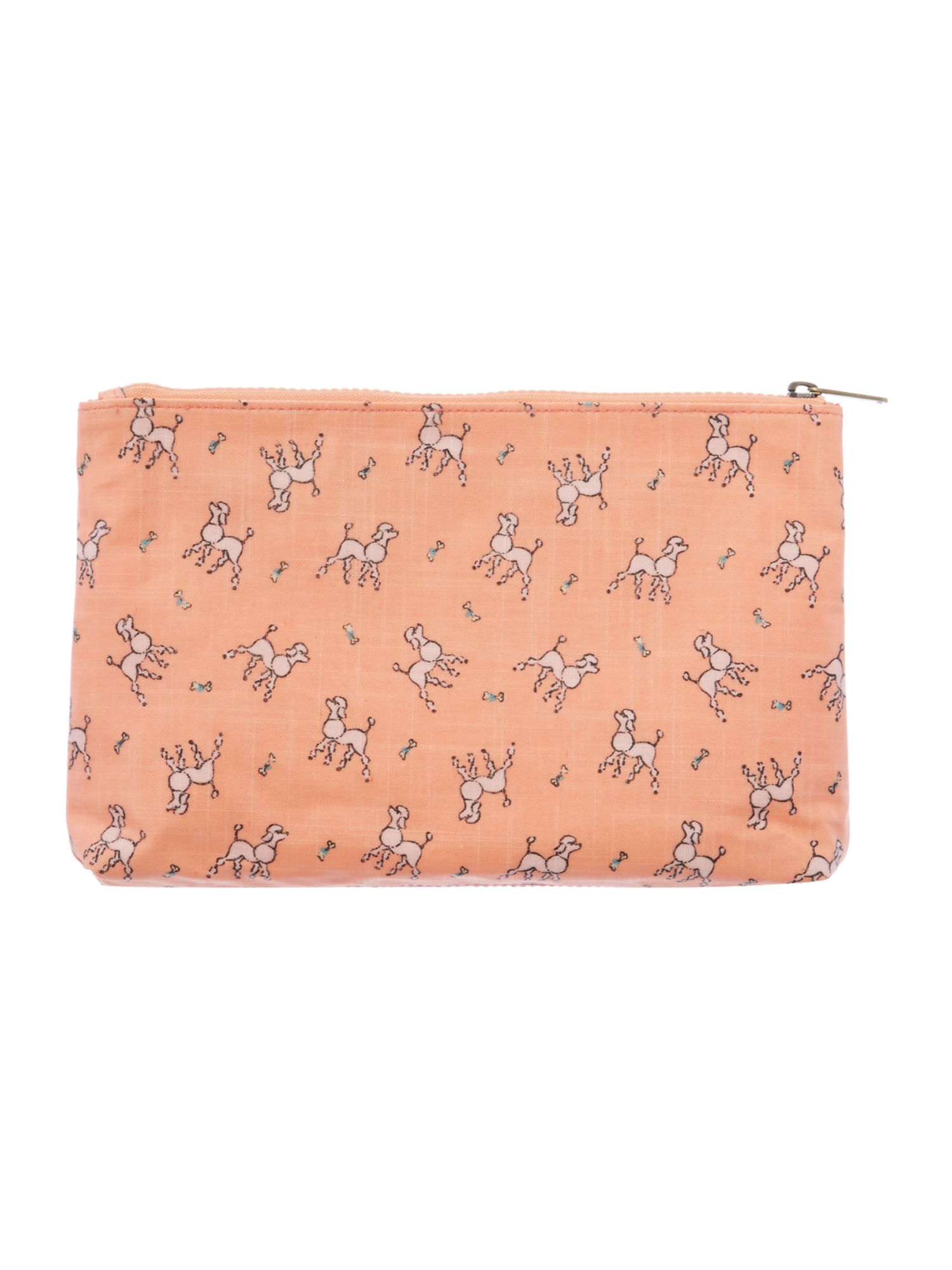 Maple coral large cosmetic bag