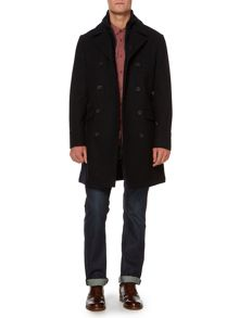 Lincoln Long Funnel Utility Wool Coat