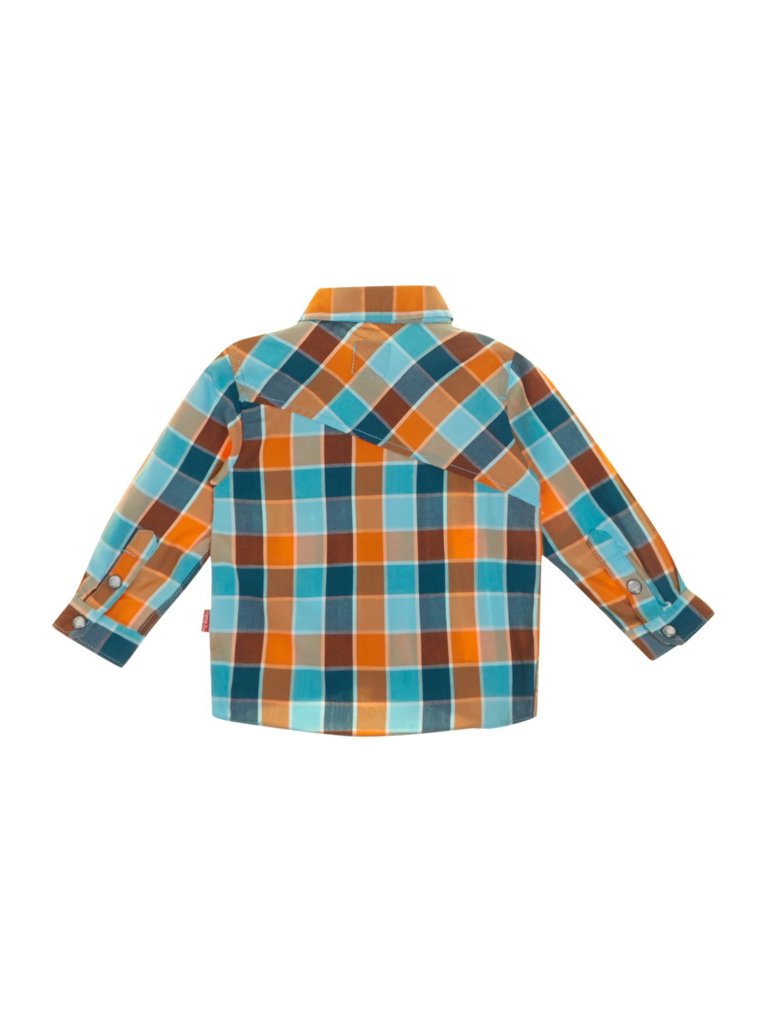 Boys angled pocket check shirt