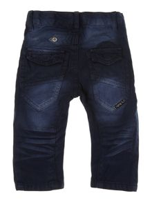 Boys distressed twill trouser
