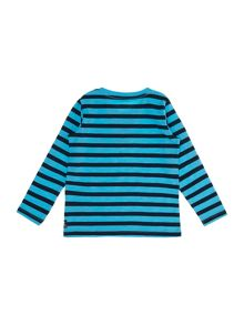 Boys rolled sleeve stripe top