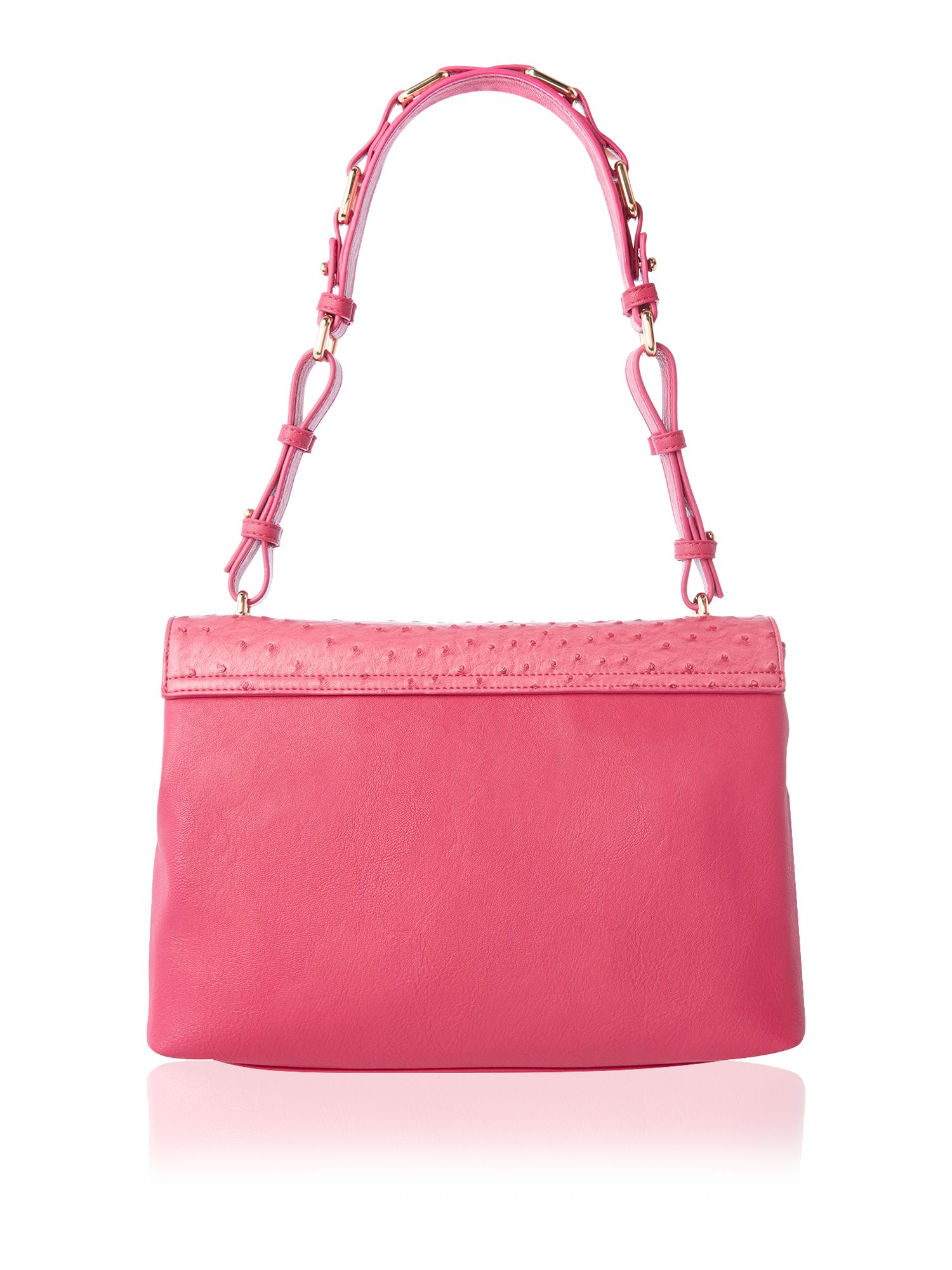 Pink large mila flapover shoulder bag