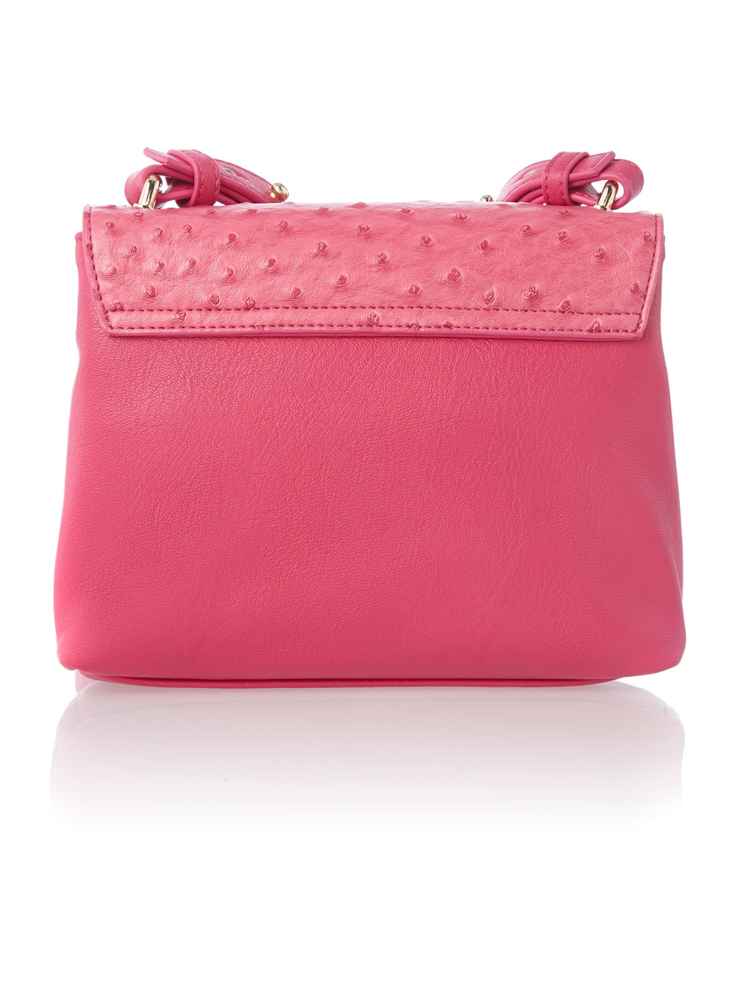Pink mila mini flapover shoulder bag