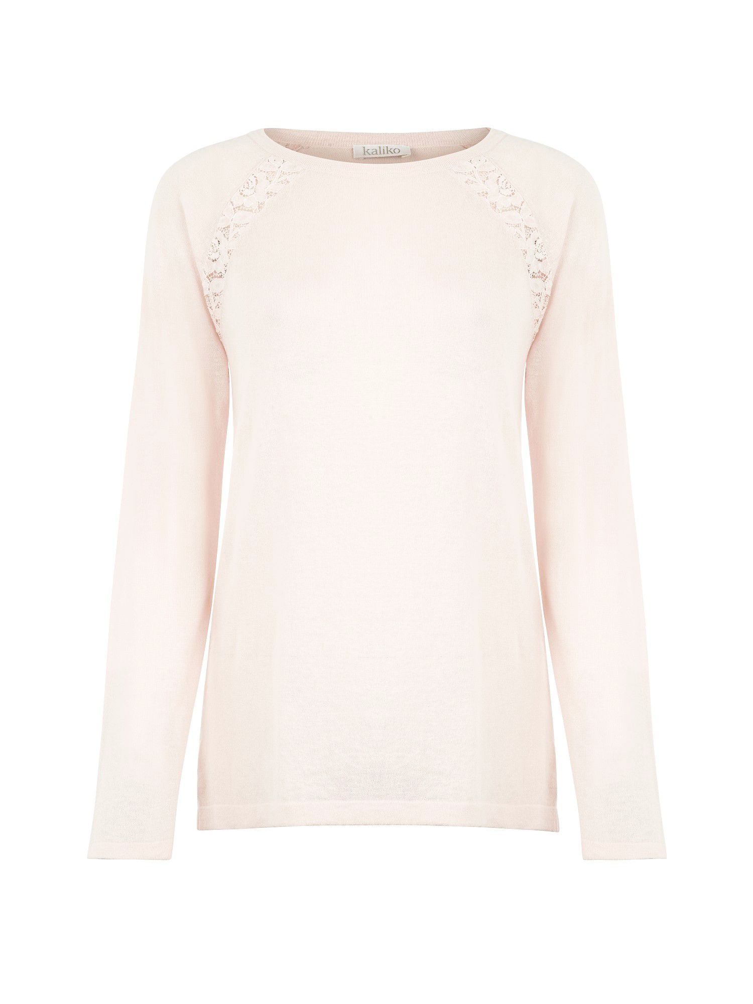 Lace trim jumper