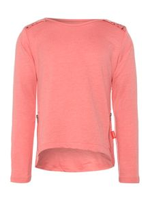 Girls detail shoulder sweat