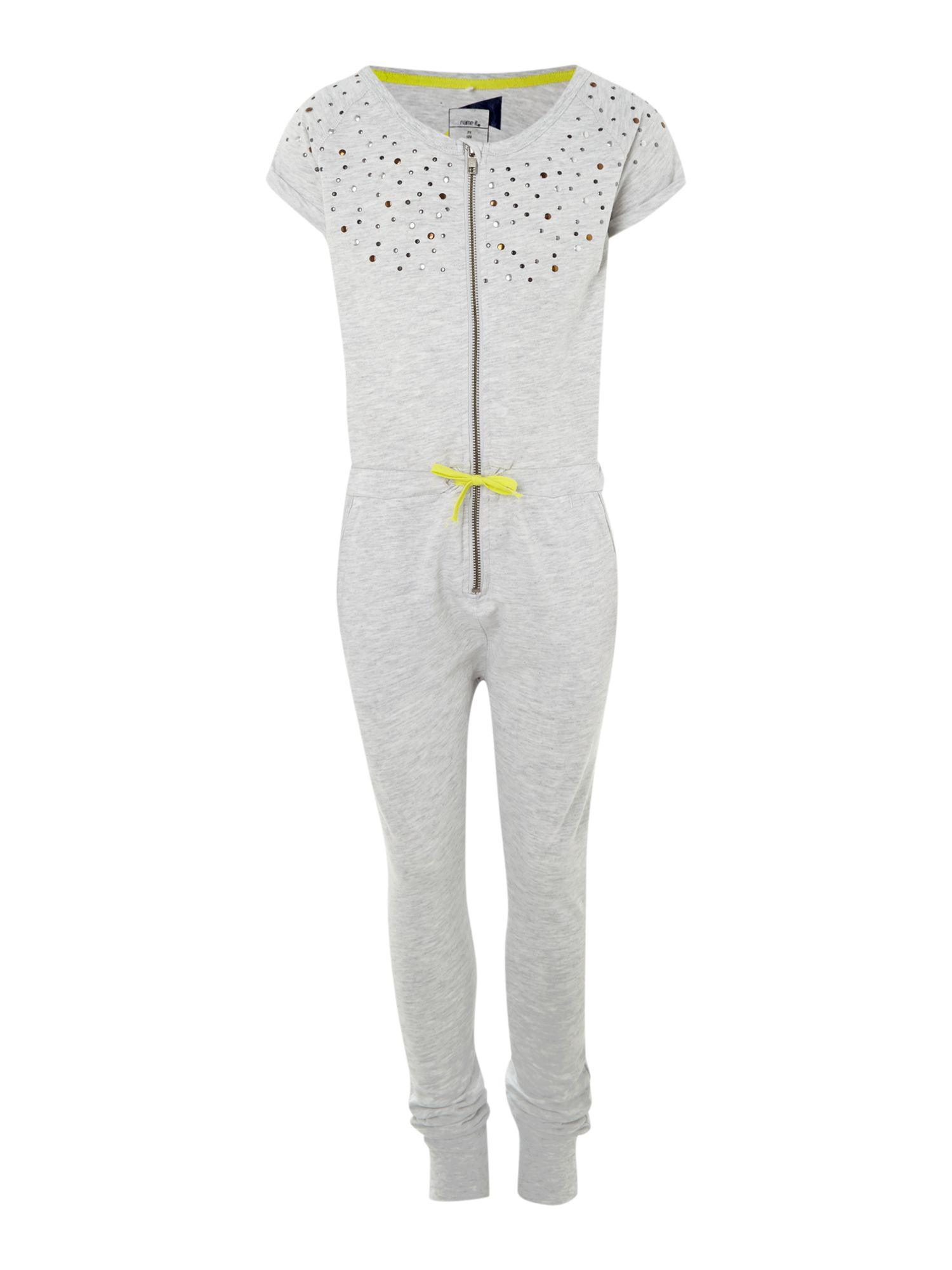 Girls studded jumpsuit