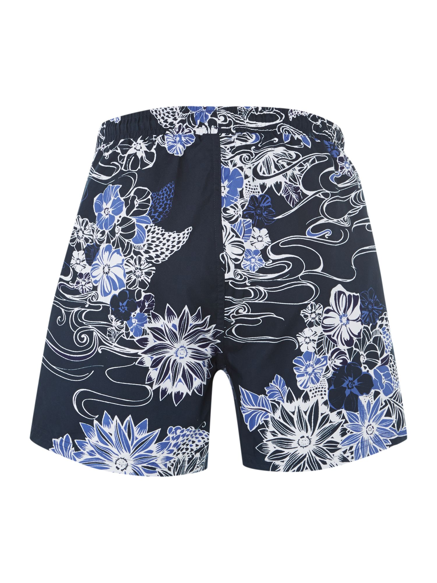 Piranha floral print swim short