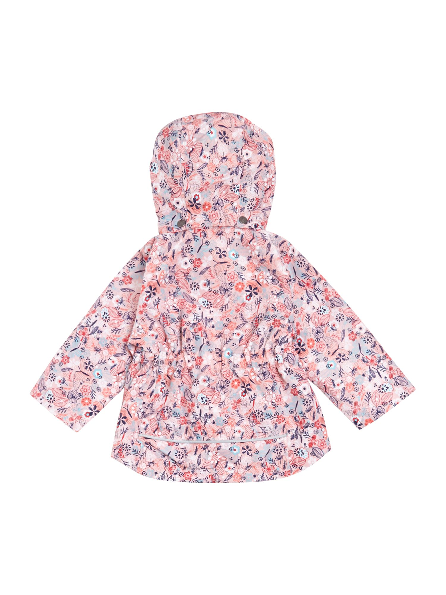 Girls ditsy print jacket with detachable hood