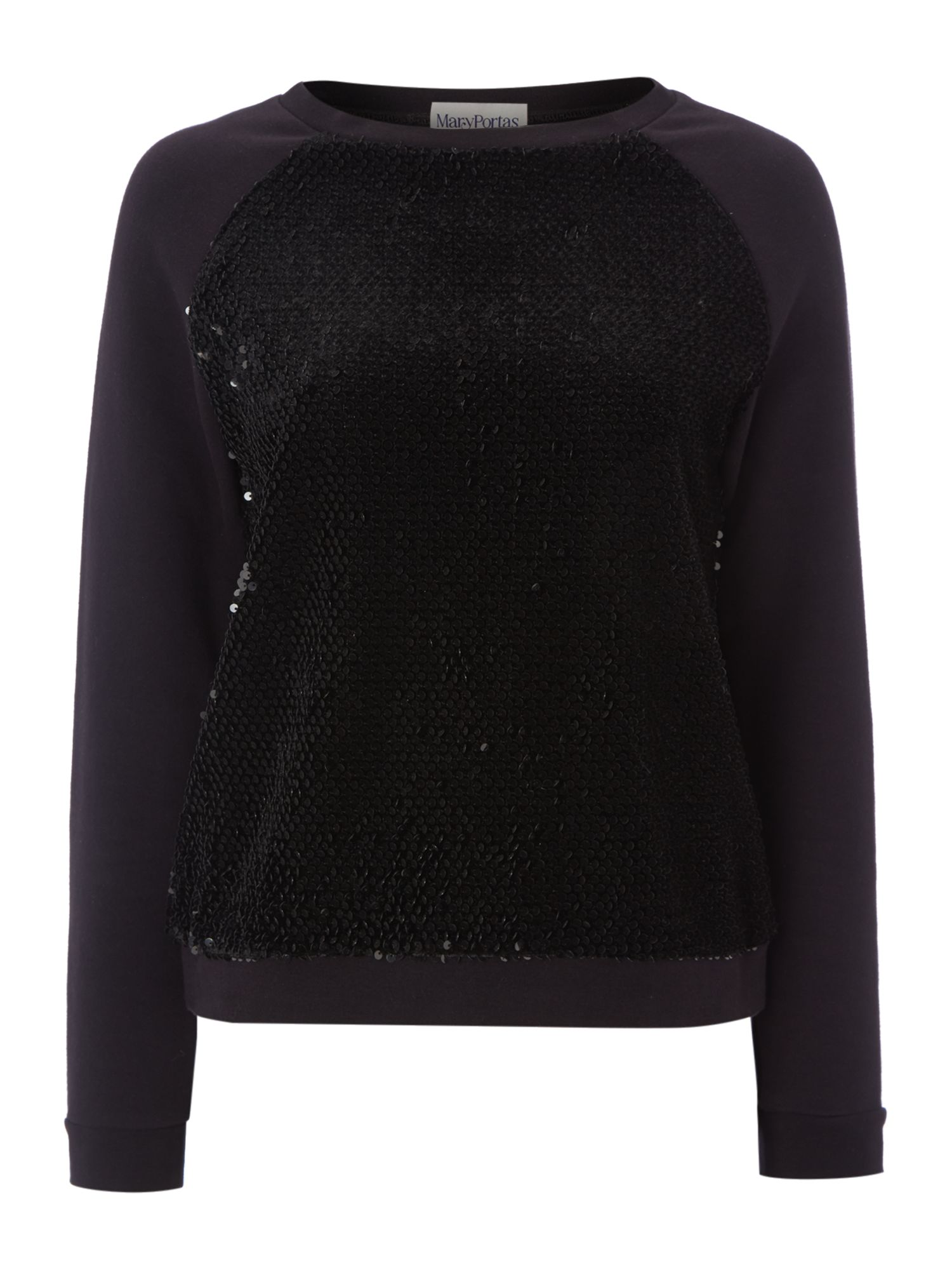 Flocked sequin sweater
