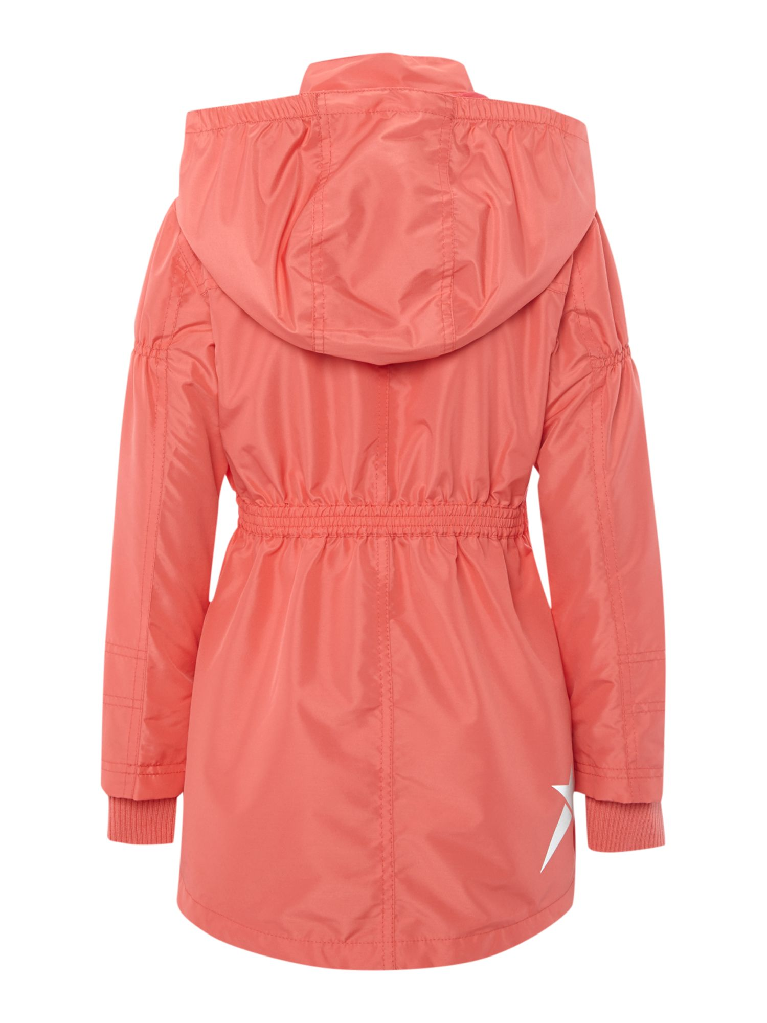 Girls longline mac with detachable hood