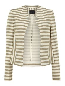 Striped biker jacket