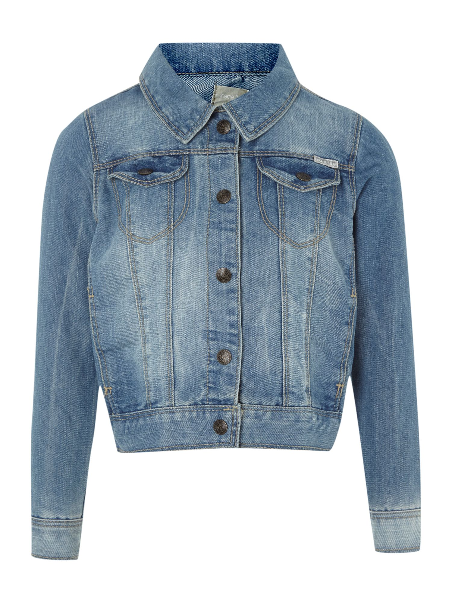 Girls light wash denim jacket