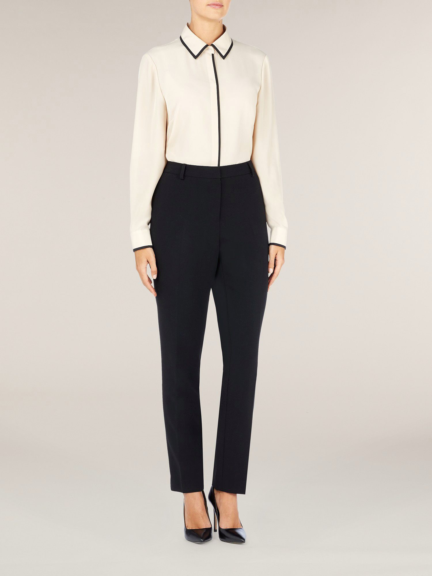 Champagne contrast blouse